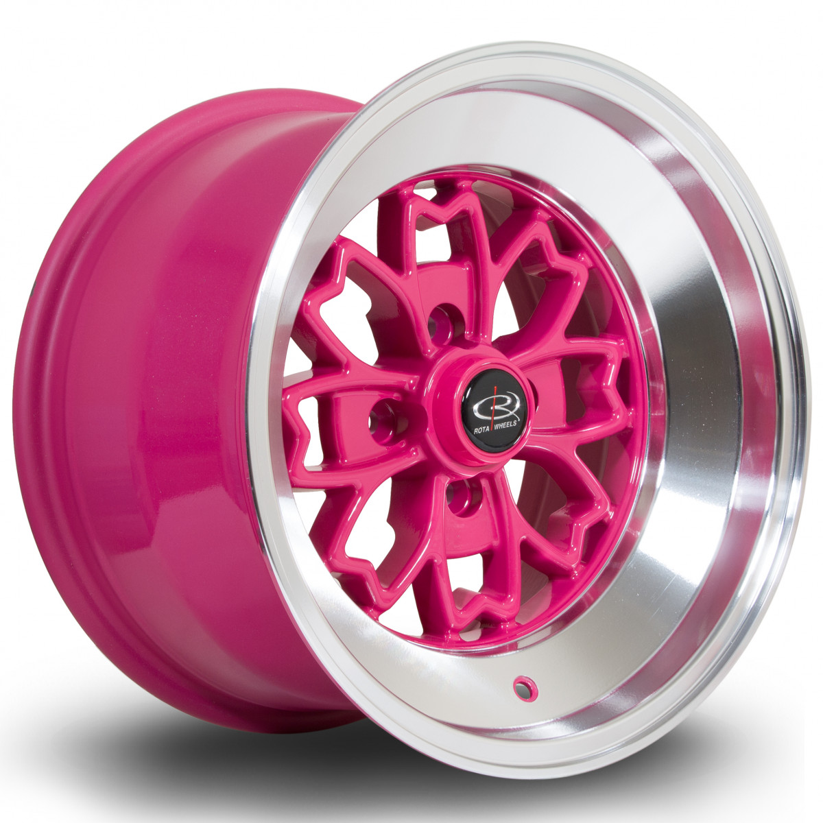 Aleica 15x9 4x100 ET10 Pink with Polished Lip
