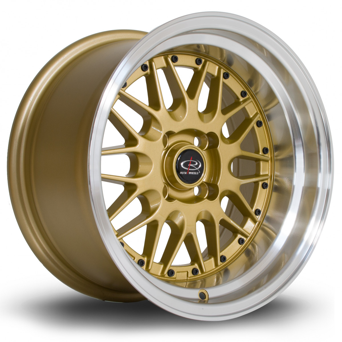 Kensei 15x8 4x100 ET0 Tommy Gold with Polished Lip