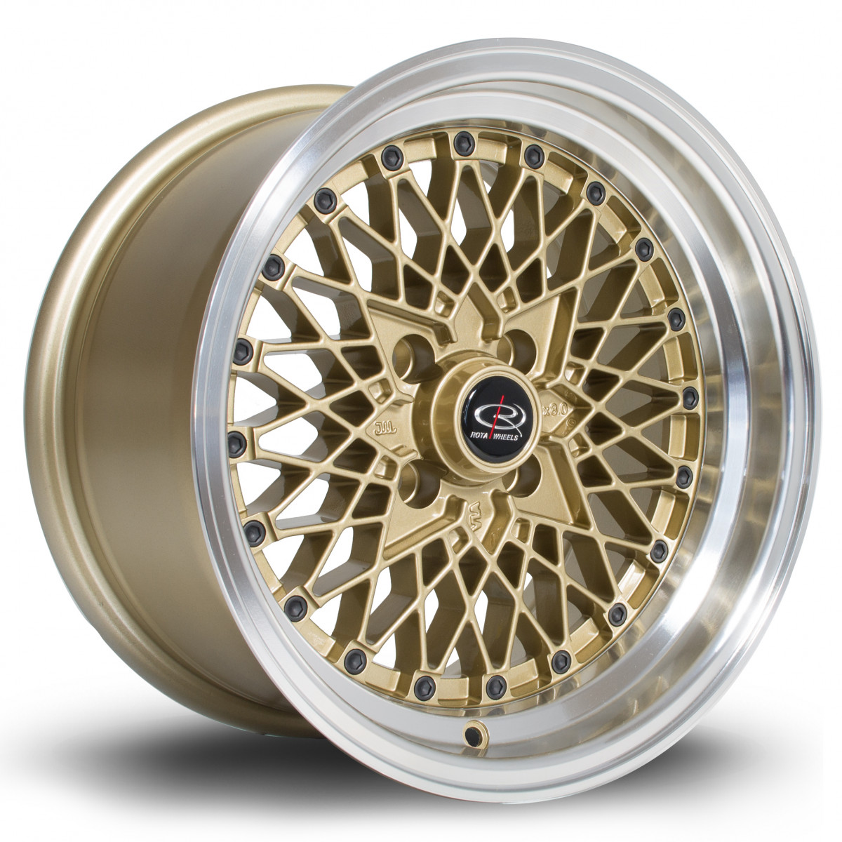 OSMesh 15x8 4x100 ET20 Gold with Polished Lip