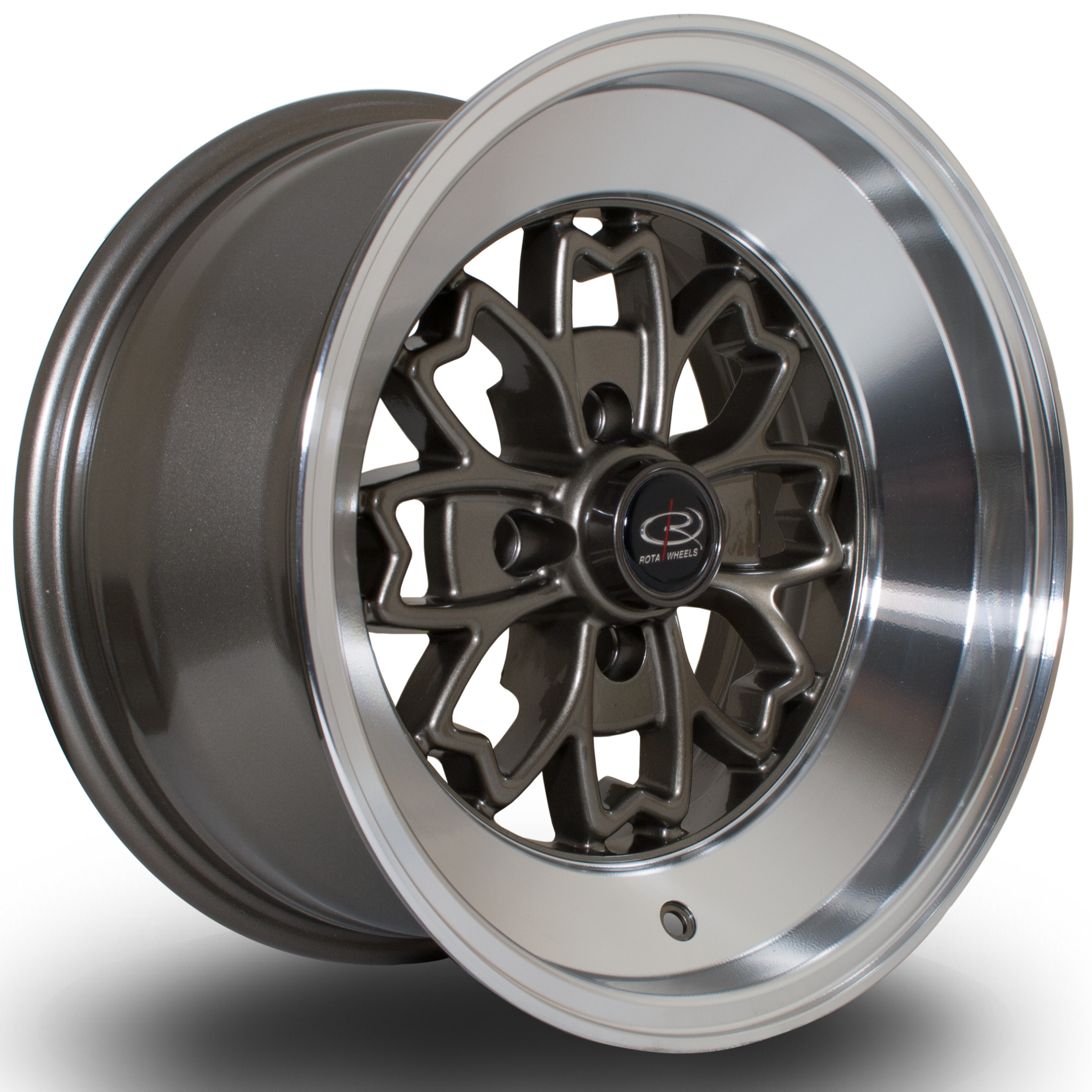 Aleica 15x8 4x100 ET0 Bronze with Polished Lip - Rota Wheels