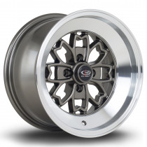 Aleica 15x8 4x100 ET0 Bronze with Polished Lip