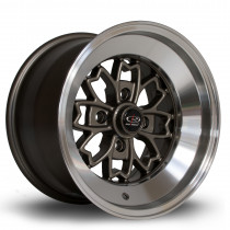 Aleica 15x9 4x100 ET10 Bronze with Polished Lip