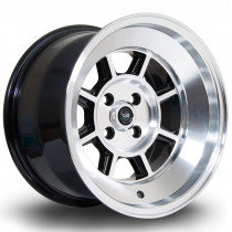 BM8 15x9 4x100 ET0 Gloss Black with Polished Face