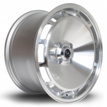 D154 16x8 4x100 ET20 Silver with Polished Face