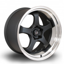 D2EX 18x10 5x114 ET12 Flat Black with Polished Lip