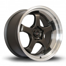 D2EX 18x9.5 5x114 ET12 Gunmetal with Polished Lip