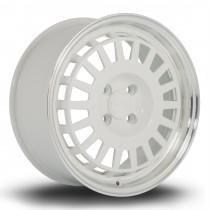 EG6 16x7 4x100 ET35 White with Polished Lip
