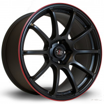 Force 18x9 5x114 ET27 Flat Black with Red Lip
