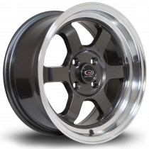 Grid-V 15x7 4x108 ET20 Gunmetal with Polished Lip