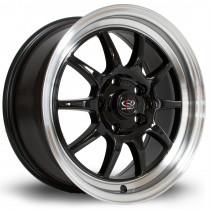 GT3 16x7 4x100 ET40 Black with Polished Lip