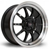 GT3 17x7.5 4x100 ET45 Black with Polished Lip