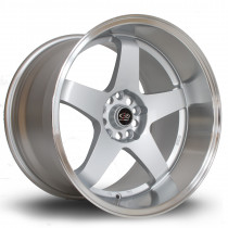 GTR-D 18x12 5x114 ET0 Silver with Polished Lip