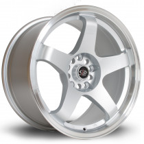 GTR 17x9.5 5x114 ET30 Silver with Polished Lip