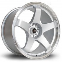 GTR 18x9.5 5x114 ET30 Silver with Polished Lip