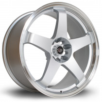 GTR 19x9 5x114 ET20 Silver with Polished Lip