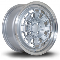 HB10 15x7 4x100 ET40 Silver with Polished Lip