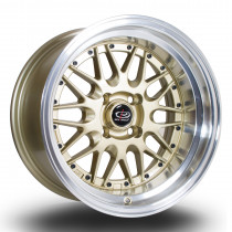 Kensei 15x8 4x100 ET0 Gold with Polished Lip