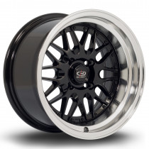 Kensei 15x8 4x108 ET0 Black with Polished Lip