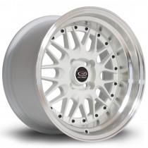Kensei 15x8 4x100 ET0 White with Polished Lip