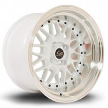 Kensei 15x9 4x100 ET0 White with Polished Lip