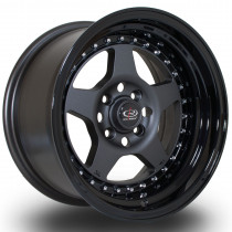Kyusha 15x8 4x100 ET0 Flat Gunmetal with Gloss Black Lip