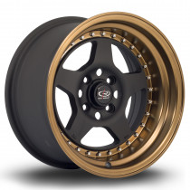 Kyusha 15x8 4x114 ET0 Flat Black with Speed Bronze Lip