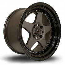 Kyusha 17x9 4x100 ET20 Flat Gunmetal with Gloss Black Lip