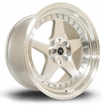 Kyusha 17x9 4x114 ET0 Silver with Polished Face
