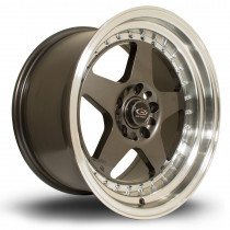 Kyusha 17x9 4x100 ET20 Gunmetal with a Polished Lip