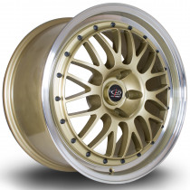 MC3 18x8 5x114 ET48 Gold with Polished Lip