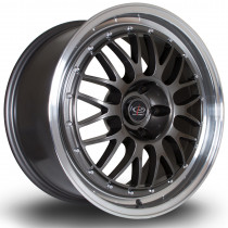 MC3 18x8 5x114 ET48 Gunmetal with Polished Lip