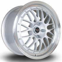 MC3 18x8 5x114 ET48 Silver with Polished Lip