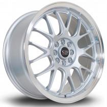 MXR 17x7.5 4x100 ET40 Silver with Polished Lip