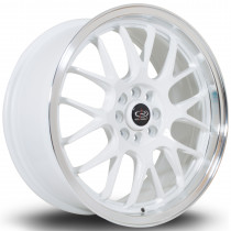 MXR 17x7.5 4x100 ET40 White with Polished Lip