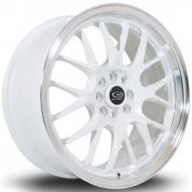 MXR 17x7.5 4x100 ET40 White with Polished Lip