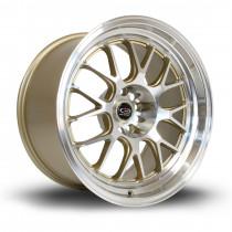 MXR 18x10 5x114 ET12 Gold with Polished Lip