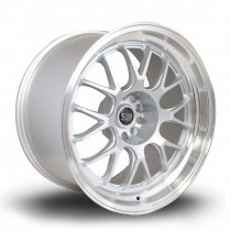 MXR 18x10 5x114 ET12 Silver with Polished Lip