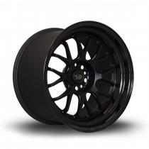 MXR 18x11 5x114 ET8 Flat Black with Gloss Black Lip