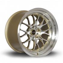 MXR 18x11 5x114 ET8 Gold with Polished Lip