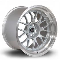 MXR 18x11 5x114 ET8 Silver with Polished Lip