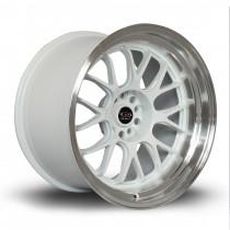 MXR 18x11 5x114 ET8 White with Polished Lip