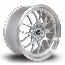 MXR 18x8.5 5x120 ET30 Silver with Polished Lip