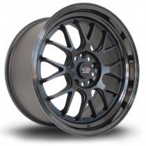 MXR 18x9.5 5x120 ET45 Flat Black with Gloss Black Lip