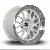 MXR 18x9.5 5x100 ET38 White with Polished Lip