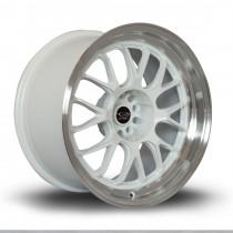 MXR 18x9.5 5x100 ET38 White with Polished Lip
