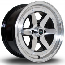 OSR 15x7 4x100 ET35 Gloss Black with Polished Face