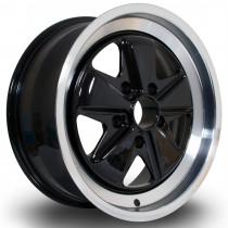 PSD 17x7.5 5x130 ET35 Black with Polished Lip