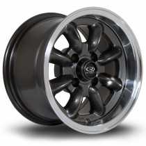 RB 13x8 4x100 ET4 Gunmetal with Polished Lip