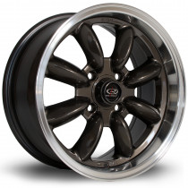 RB 15x7 4x108 ET30 Gunmetal with Polished Lip
