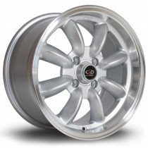 RB 15x7 4x108 ET30 Silver with Polished Lip